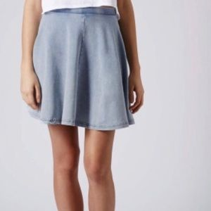Topshop Denim Cotton Pencil Skirt, NWOT, US 4